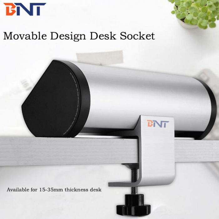 Movable desk edge mounted socket BTS-303