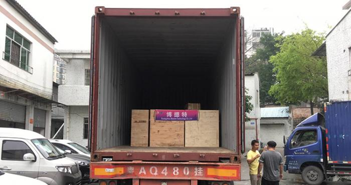 2019-4-15 shipment-80PCS lcd monitor lift loaded on one 20ft container