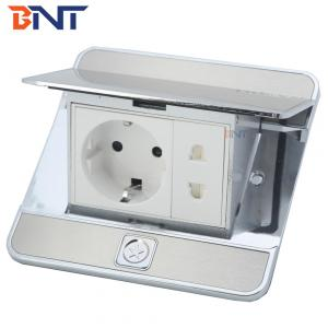 Zinc alloy with stainless steel panel  Material floor mounted plug waterproof pop up sockets