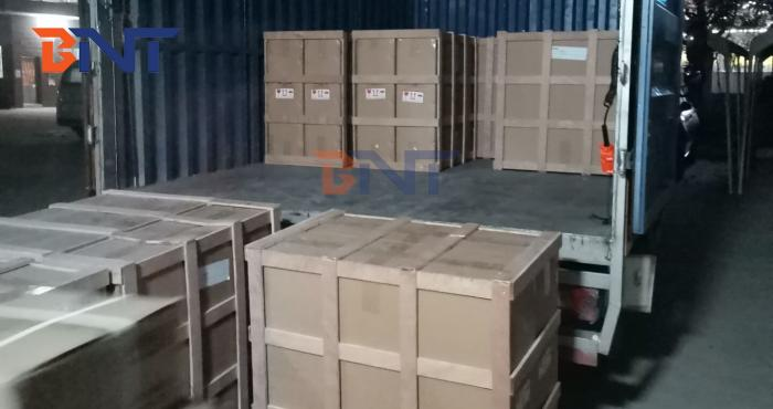 Shipment of the conference system order to Mid Asian on 2020-1-4